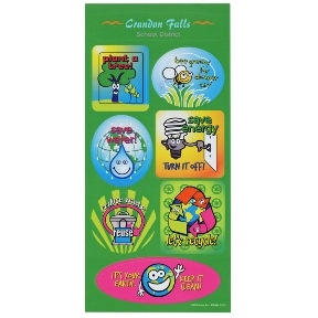 Super Kid Sticker Sheet Go Green | Promotional Products from 4imprint