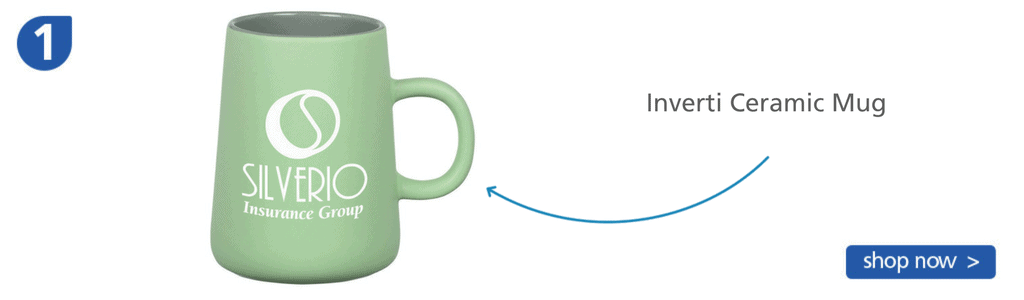 Number one: light green ceramic mug