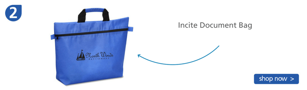 Number two: blue zip-up bag