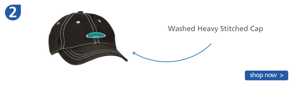 Number two: Black ball cap with white stitching