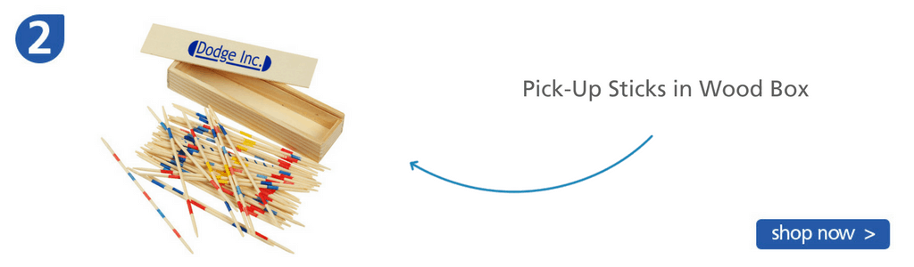Number two: pick up sticks game in wooden box