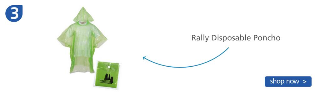 Number three: light green plastic rain poncho