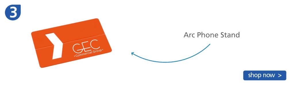 Number three: orange arc phone stand