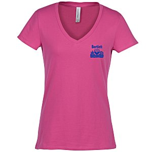 Threadfast Ultimate Blend V-Neck T-Shirt - Ladies' | T-shirt giveaway ideas from 4imprint.
