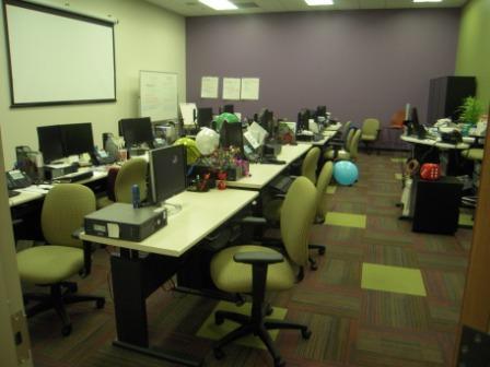 Purple and Green Training Room