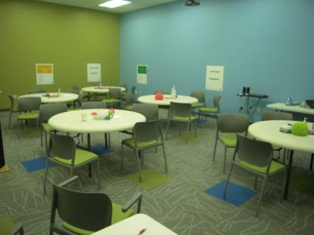 Blue and Green Training Room