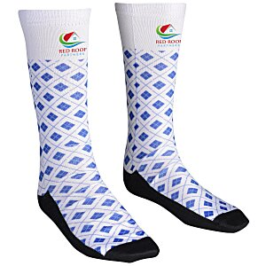 Unisex Patterned Socks – Argyle | 4imprint custom logo socks