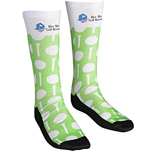 Unisex Patterned Socks – Golf | Cool branded socks from 4imprint