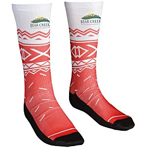 Unisex Patterned Socks – Sweater | 4imprint custom logo socks