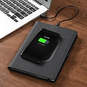 Walton Wireless Charging Notebook 3 | 4imprint branded tech giveaways.