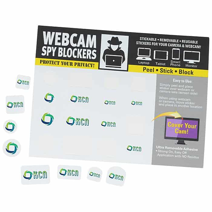 Webcam Spy Blocker Tattoos | 4imprint promotional webcam covers are great techy promotional items.