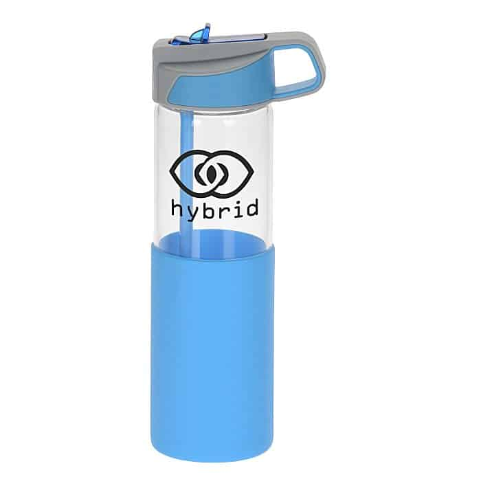 Yoli Glass Yoga Bottle | 4imprint promotional glassware.