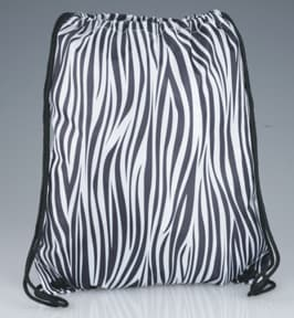 Designer Drawcord Sportpack in Zebra Print | Promotional Products from 4imprint