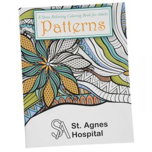 The Stress Relieving Adult Coloring Books comes in three designs.