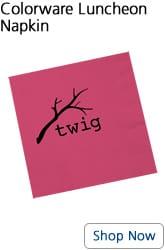 Pink paper napkin