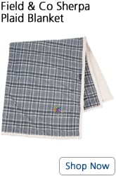 Field & Co Sherpa Plaid Blanket - shop now - Fall promotional items