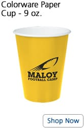Yellow 9 ounce paper cup