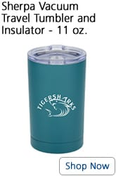 11-ounce insulated teal travel tumbler