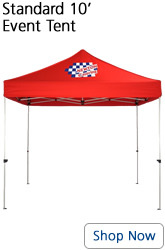 Standard 10 foot red event tent