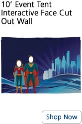10 foot event tent interactive face cut out wall