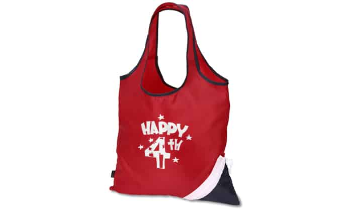red white and blue shopping bag