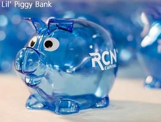 Blue transparent pig piggy bank