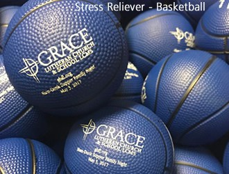 Blue basketball stress relievers