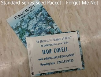 Standard series seed packets - forget me not flowers
