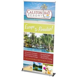 Rapid Change Retractable Banner Display | 4imprint retractable trade show banners.